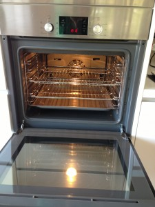 After professional oven cleaning photo, Newcastle