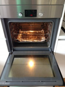 Before professional oven cleaning photo, Newcastle