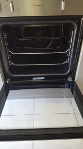 cleaning oven after