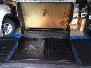 cleaning bbq with oven perfect -before