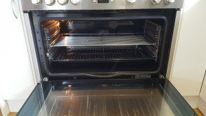 cleaning oven shelves after photo